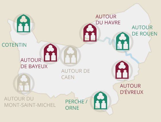 Carte des Abbayes Normandes