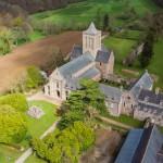 Abbaye de la Lucerne vue du ciel