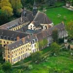 photo aérienne abbaye