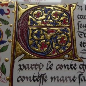 lettrine E XVe mariage de Marie de France chroniques de Froissart f 288v