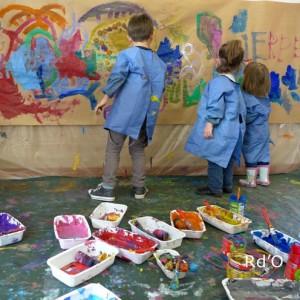 Les Vacances au musée : Ateliers 3‐6 ans  création d'une fresque monumentale en peinture.